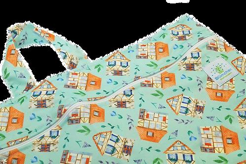 Blümchen Wetbag - Huisjes XL