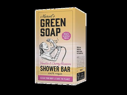 Marcel´s Green Soap - Shower bar / handzeep- vanilla & Cherry Blossom