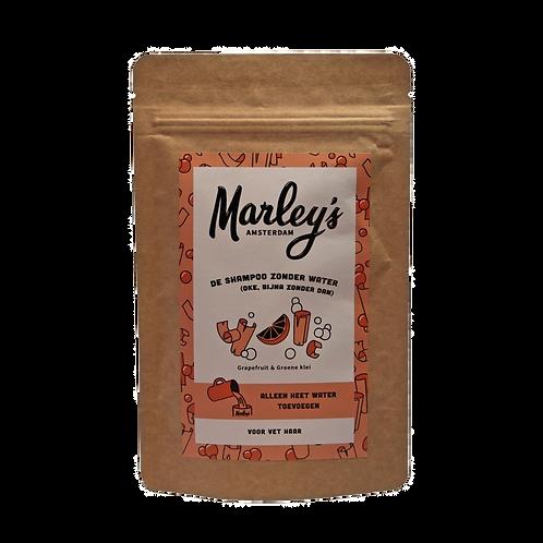 Marley's Amsterdam - Shampoovlokken vet haar – Grapefruit & Groene Klei
