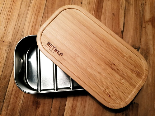 Retulp - lunchbox - RVS / Bamboe