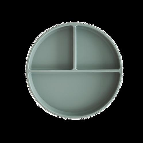 Mushie -  Siliconen vakjesbord - Cambridge Blue