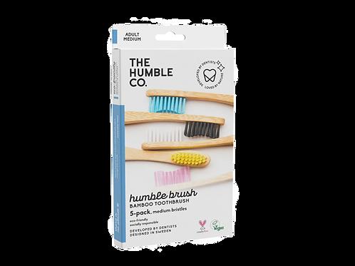 The Humble Co. - Bamboe tandenborstel voordeelpakket - Medium