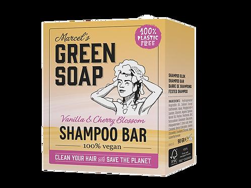 Marcel´s Green Soap - Shampoo bar - Vanilla & Cherry Blosssom