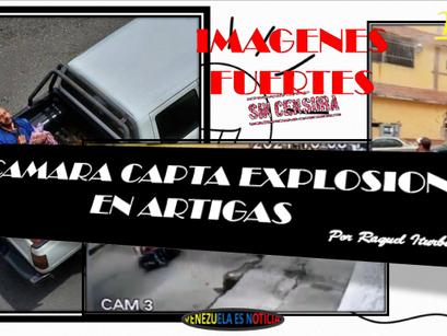CAMARA CAPTA EXPLOSION EN ARTIGAS