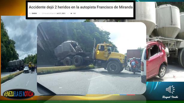 ACCIDENTE EN LA AUTOPISTA FRANCISCO DE MIRANDA