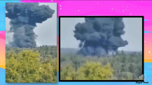 EN RUSIA, VUELO DE ENTRENAMIENTO CAE Y EXPLOTA
