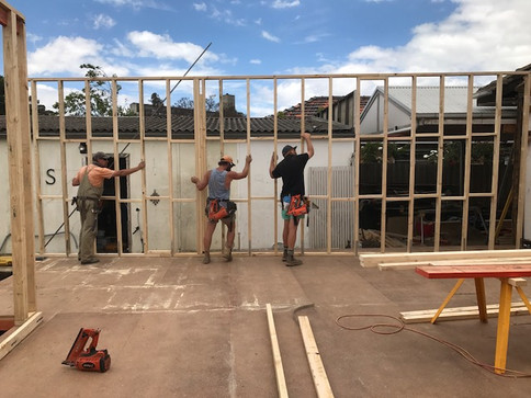 Murdoch house framing stage