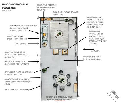 Floor plan Powell house