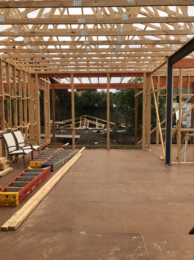 Murdoch house framing stage