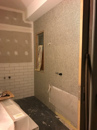 Murdoch house ensuite construction