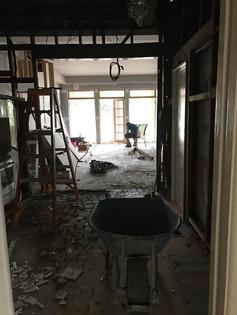 Murdoch house guttering stage