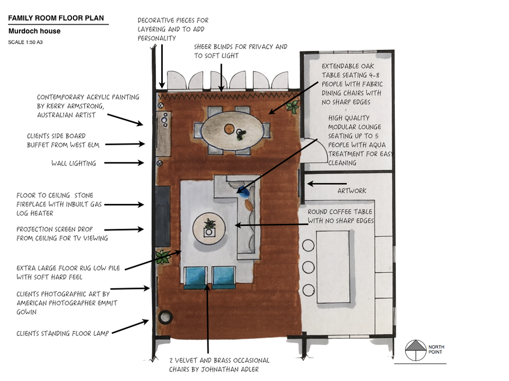 Floor plan Murdoch house