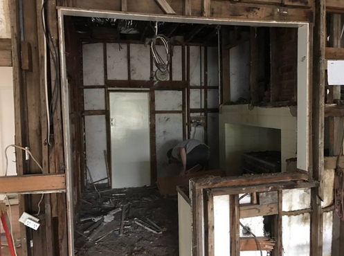 Murdoch house original kitchen - now library