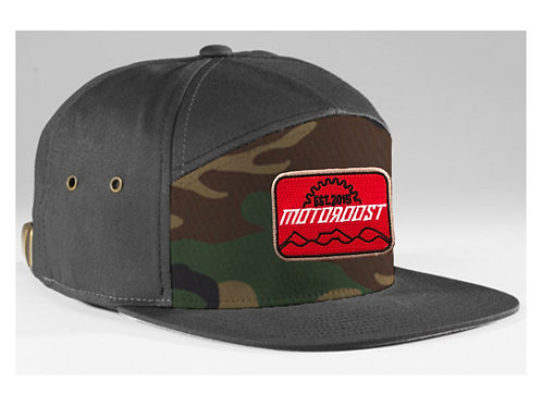 Camo Leather Strapback