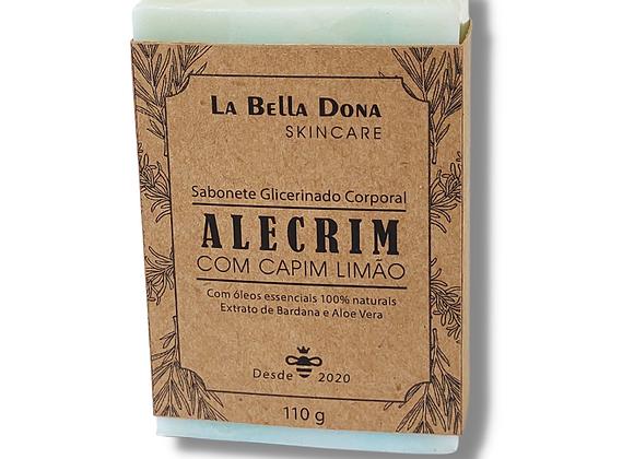Sabonete Glicerinado Corporal ALECRIM COM CAPIM LIMÃO