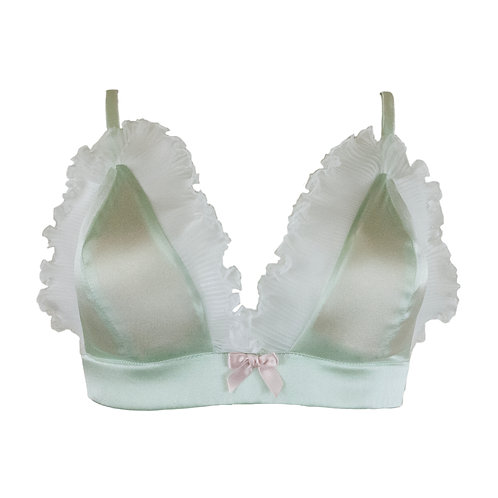 Mermaid Triangle Bra Pistachio