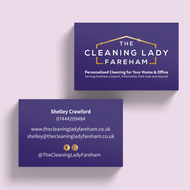 Business Cards - The Cleaning Lady Fareham