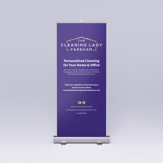 Roller Banner - The Cleaning Lady Fareham