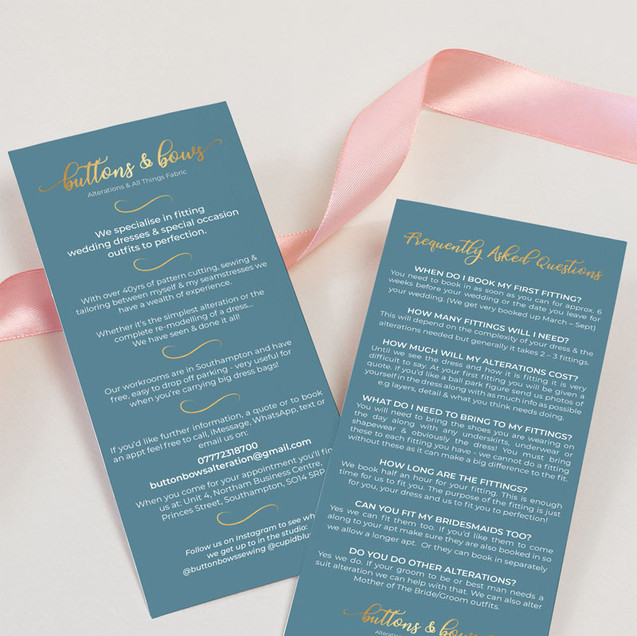 Leaflets - Buttons & Bows
