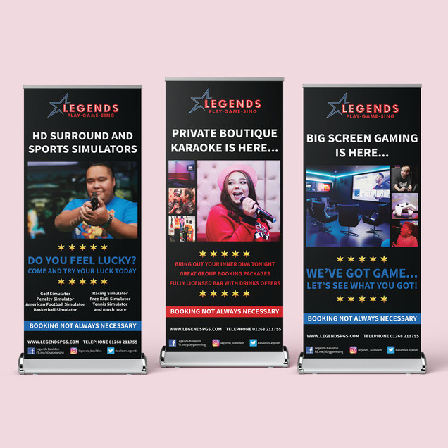 Series of roller banners