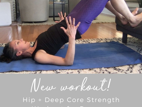 Hip + Deep Core Strength workout for Runners