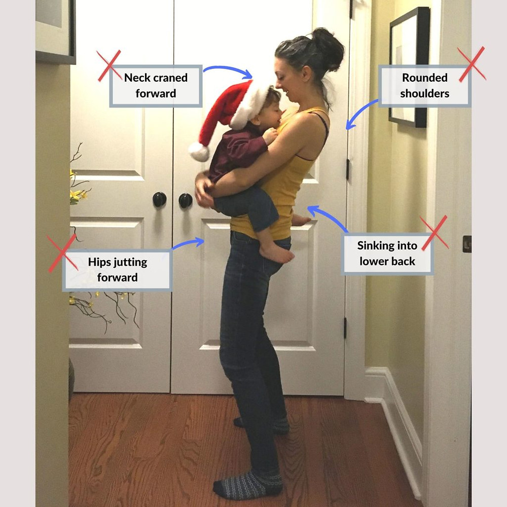 Holding your kids front-carry