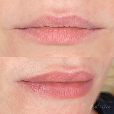 акварельні губи до після