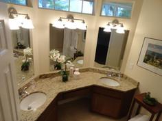 Ornamental granite bathroom countertops