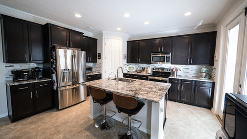 Cold Spring granite kitchen countertops with island St_Augustine