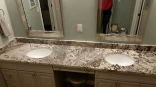 Granite bath vanity Fernandina Beach