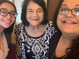 """Look who met Dolores Huerta at last week's """"A Movement for Equity"""" Conference"""