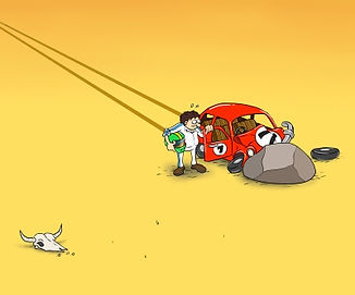 The Novice crash in the desert