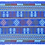 Thumbnail: F-5Royal Blue embroidered strip with dense tree-likepatterned throughout
