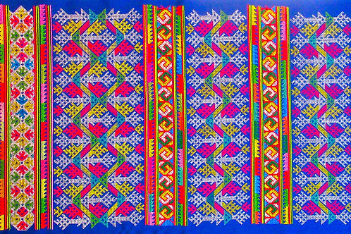 20- Traditional symbolic Lao embroidery