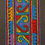 Thumbnail: E-51Long densely embroidered black oblong (100 x 520 mm)