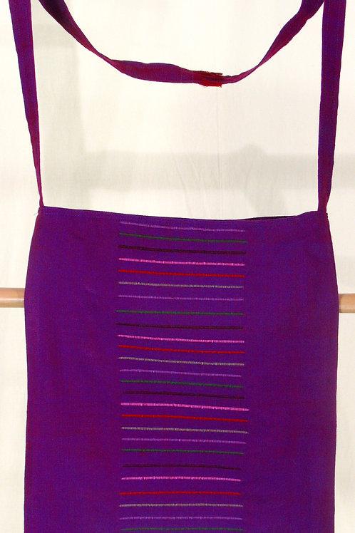 G-3Medium size, purple, fully-lined, hand-wovenshoulder bag