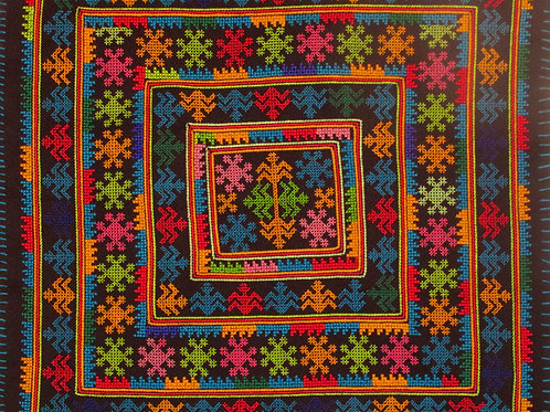 D-18 Embroidered square with traditional symbols