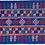 Thumbnail: F-14  Royal Blue embroidered  oblong with central oblong  in pinks & blue