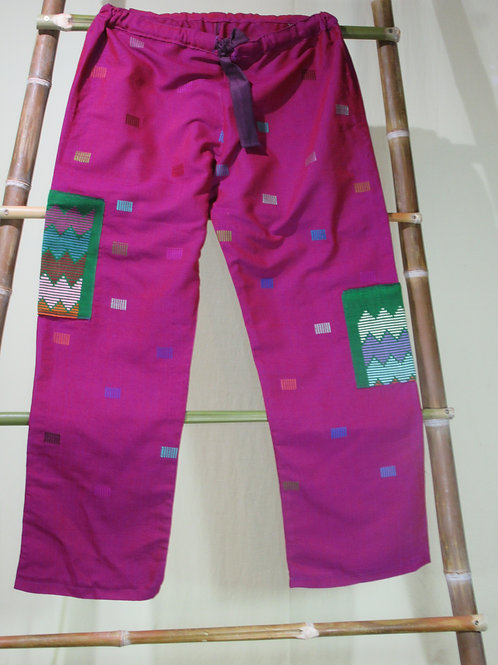 D-76. Pinky/purple trousers with woven pockets on legs