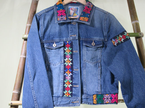 D-73 Embroidered Denim jacket size-14