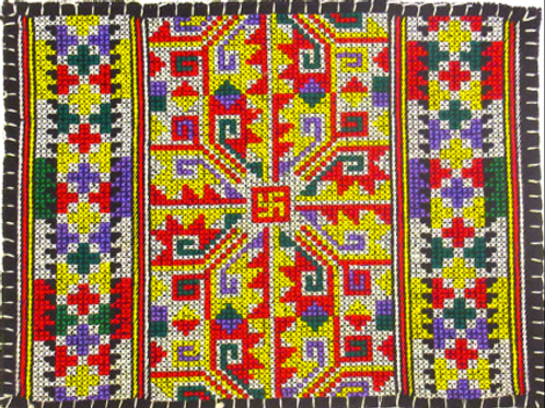 E-48Medium densely embroidered  oblong (200 x 150 mm)