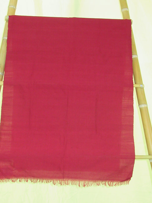 E-39   Plain hand-woven red material (cotton)  (610 x 1640 mm)