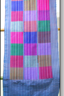 D-48  Scarf with large multi-coloured squares (1860 x 400)