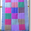 Thumbnail: D-48  Scarf with large multi-coloured squares (1860 x 400)