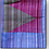 Thumbnail: D-33  Thin ice-blue and maroon hand-woven scarf triangular pattern