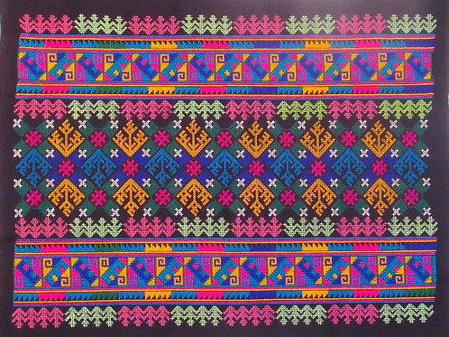 D-14 Large embroidered rectangle with traditional motifs