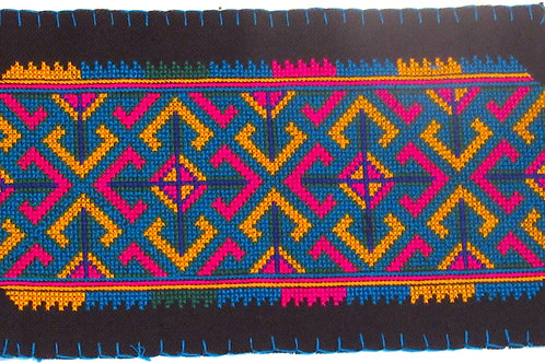 B-16 Small densely embroidered rectangle with pointed ends