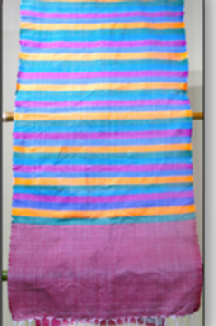 D-49 Scarf  with bright coloured stripes throughout   (1750 x 400)