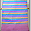 Thumbnail: D-49 Scarf  with bright coloured stripes throughout   (1750 x 400)