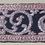 Thumbnail: D-62Narrow denselyembroidered strip in silver thread